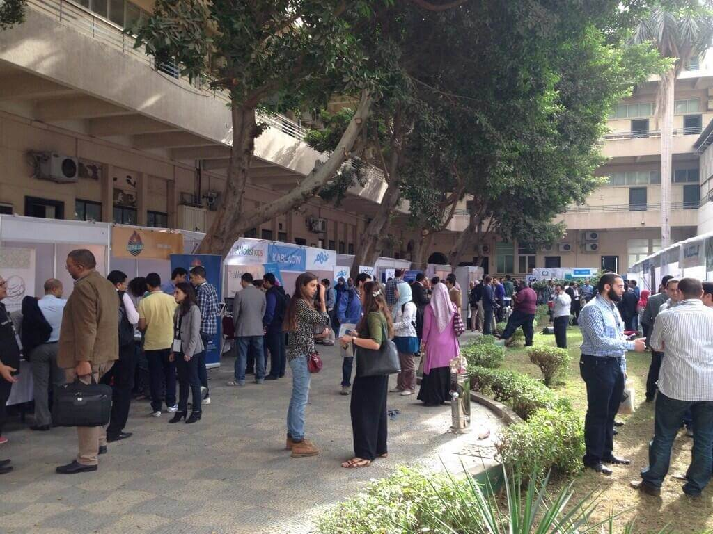 The Greek campus is packed with some great entrepreneurs - Injaz Trade Fair