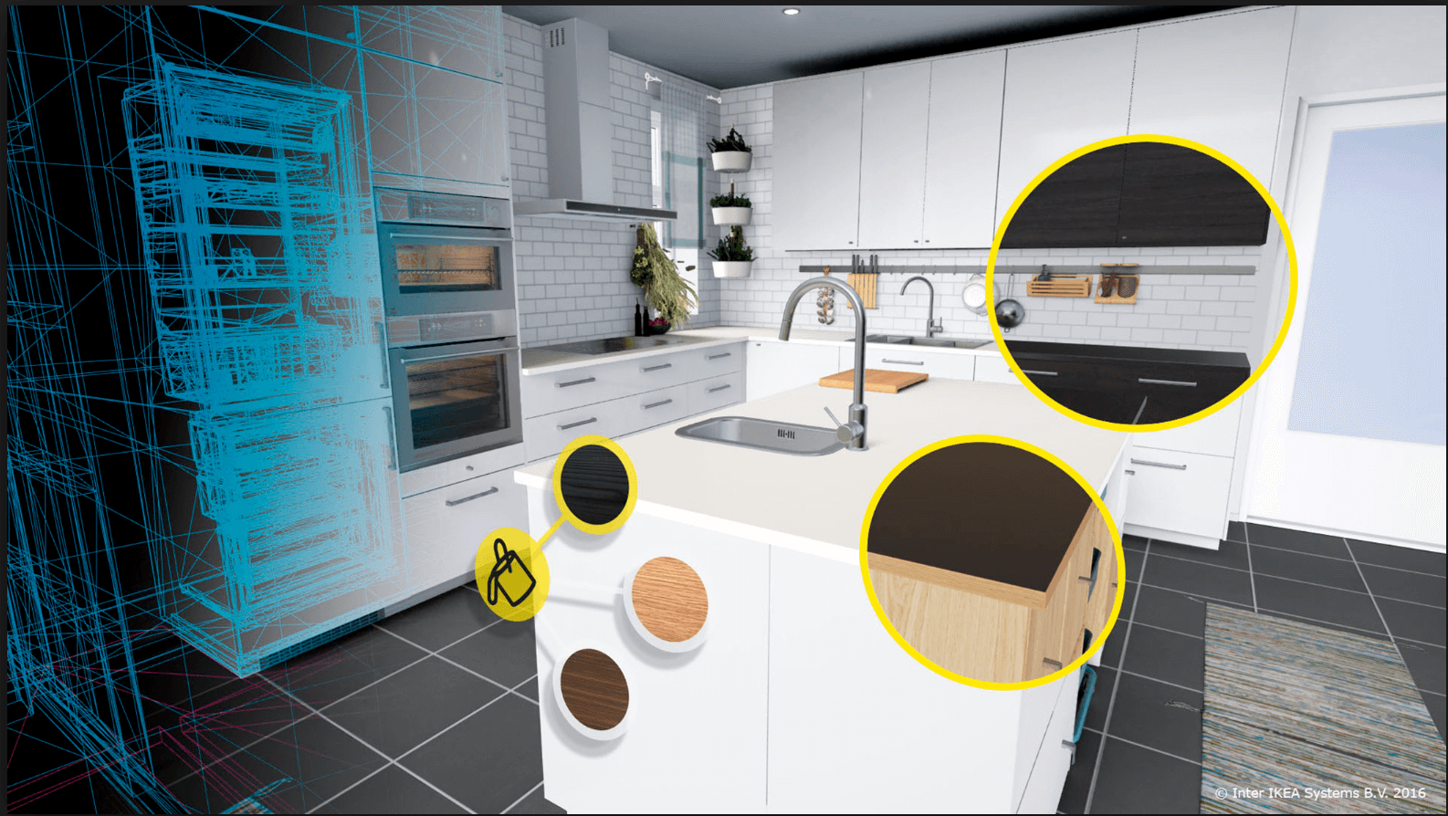 A View of Ikea Kitchen Using VR app for HTC Vive